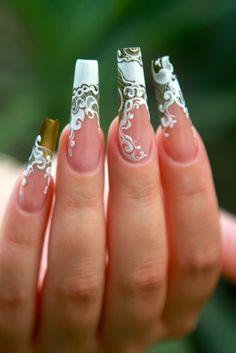 #wedding #weddingnail #marriage #bride #bridenails #love #nails #lace