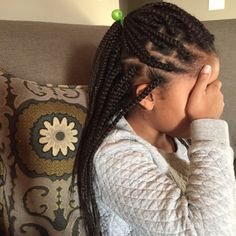 long box braids kids hair