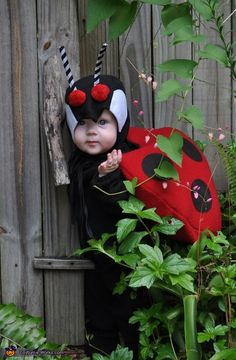 Lovely Little Ladybug - Halloween Costume Contest via @Merry China Falk Works