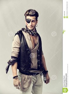 Handsome Young Man In Pirate Fashion Outfit - Download From Over 50 Million High Quality Stock Photos, Images, Vectors. Sign up for FREE today. Image: 46516103