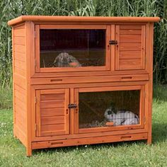"Trixie Natura Insulated Two Story Rabbit Hutch, 45.5"" L X 44.5"" W X 25.5"" H"