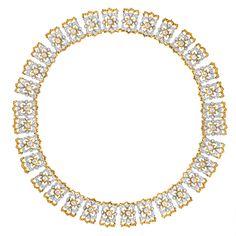 Buccellati Diamond 18k Gold Link Necklace