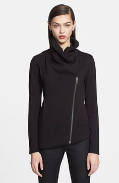 Helmut Lang 'Villous' Zip Front Sweatshirt available at #Nordstrom