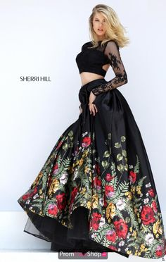 Black Sleeved Sherri Hill Dress 50599