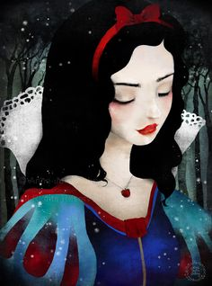 Items similar to Snow White - Open Edition Print - Whimsical Art on Etsy Blanche-Neige Anime Disney, Disney Art, Disney Pixar, Disney Princess Snow White, Snow White Disney, Snow White Art, Goth Snow White, Snow White Drawing, Disney Kunst