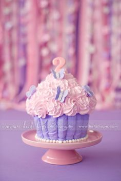 Love the cake! @Allison McLaughlin- Lilly's Smash Cake with a few of the butterflies on top.