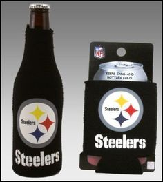 SET OF 2 PITTSBURGH STEELERS CAN  BOTTLE KOOZIE COOLER >>> See this great product.