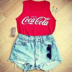 #cocacola #shit #shorts #red #blue #shades #GLAM!!
