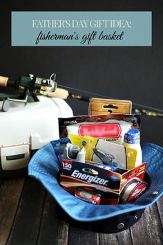 Father's Day gift idea: a fisherman's gift basket #DadsMyHero #ad #cbias