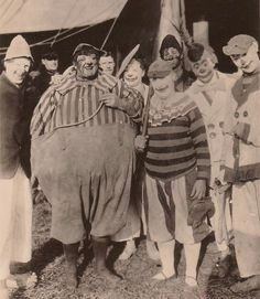 This clown picture was taken in 1913 with the Barnum & Bailey Show which was owned by the Ringlings at the time.
