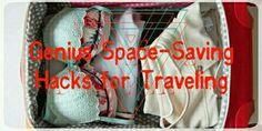 Genius Space-Saving Hacks for Traveling #Travel #Musely #Tip