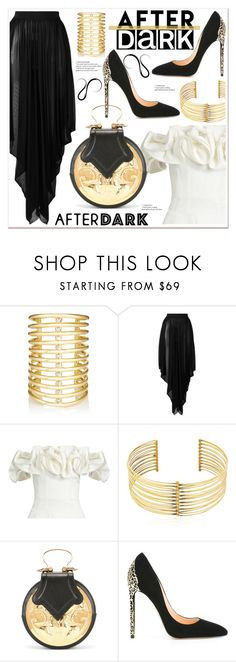 """""""After Dark: Party Outfits"""" by spenderellastyle ❤ liked on Polyvore featuring Jules Smith, Balmain, Brock Collection, REMINISCENCE, Okhtein, Cerasella Milano and afterdark"""