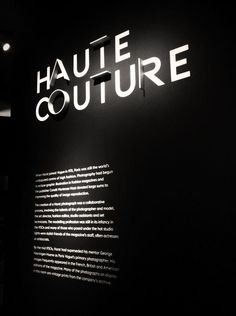 Stylish typographic signage from the recent Horst exhibition at the V&A London