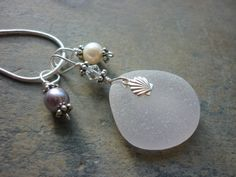 Sea Glass Necklace  Sea Shell Beach Seaglass by TheMysticMermaid, $28.00