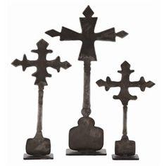 ART Ivan Iron Cross Sculpture Set of 3