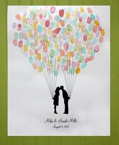 fun wedding guest book idea - would work with flowers too