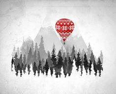 the rockies and a red balloon reminds me of #canada
