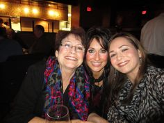 My friend Katherine, her daughter and Mom. They are now famous! lol
