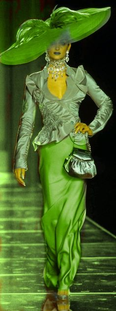 2000 Christian Dior- Fall -Couture Collection Green And Purple, Shades Of Green, Green Colors, Christian Dior, Green Pictures, Gala Dresses, John Galliano, Couture Collection, Favorite Color