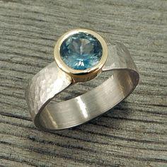 Sapphire Ring  Fair Trade Montana Blue von McFarlandDesigns auf Etsy