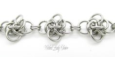 Persephone Chainmaille bracelet in Stainless Steel.