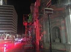 <p>Chihuahua, Chih.- A fin de dar mantenimiento a uno de los edificios más simbólicos de Chihuahua capital, la Dirección de Servicios
