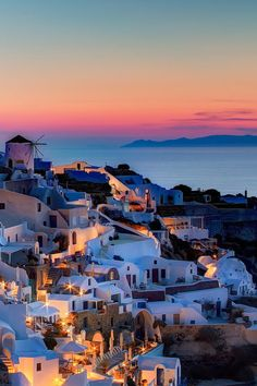 Rainbow Sunset in Oia, Santorini