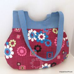 Inez Bag:  Floral and Stripes from Uniquely Yours