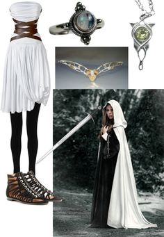 """Elven Queen #2"" by fernblossom ❤ liked on Polyvore. i LOVE that top left corner dress.. i would wear that like every day."