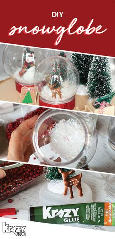 What could be a more iconic seasonal decoration other than a snowglobe?! Made with Krazy Glue, this tutorial for a DIY Snowglobe makes it easy to create the perfect festive accessory for your home. Whether you choose to finish off your living room or decorate your mantle with this handmade craft, you can bet that this will become your new favorite seasonal project. To stock up on the supplies you'll need, head over to Michaels!