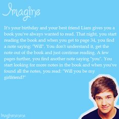 """Aww❤ I want someone to do this to me but say """"Will you marry me?"""" cough, cough...liam...cough, cough"""