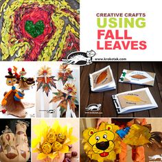 Creative crafts using FALL LEAVES