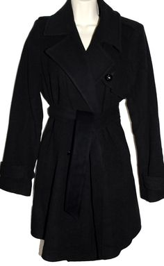 f361fc0126e3d ISABELLA OLIVER Maternity Black Wool Cashmere Belted Trench Pea Coat 1 $429  #IsabellaOliver #Peacoat