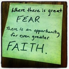 Where there is great fear... #truth
