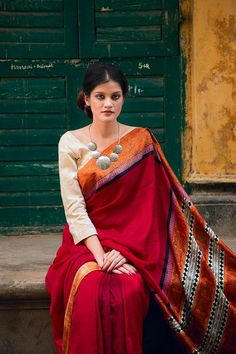 Amru Collection Saree by Chhandak Jana....acessories, 3/4 blouse sleeve