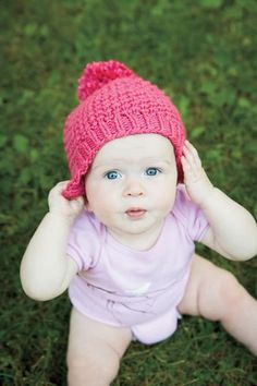Bee Stitch Hat free pattern for toddlers/babies