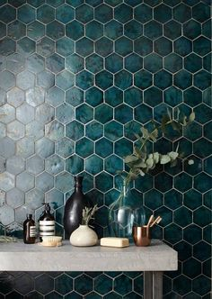 Kitchen Interior Design Exciting New Tile Trends for 2017 (And a Few Old Favorites Here to Stay) - Hi, my name is Nancy Mitchell, and I'm a tile addict Bathroom Interior, Kitchen Interior, Bathroom Modern, Minimalist Bathroom, Minimalist Kitchen, Minimalist Interior, Bathroom Furniture, Modern Minimalist, Decor Interior Design