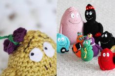 Virka familjen Barbapapa, gratis virkmönster is my swedish up to the task of translating this pattern, fingers crossed