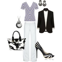 Black and White, created by nkkmrtn on Polyvore