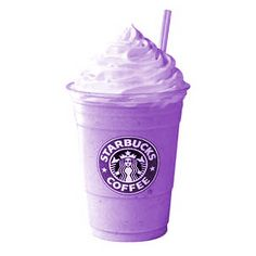 Two of my favorite things. Starbucks and purple!