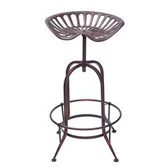 Farmhouse Tractor Adjustable Bar Stool Antique Style In