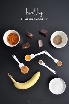 I love smoothies and drink them almost every day. Come fall, this becomes my go-to breakfast. Full of pumpkin, honey and almond milk, it's amazing! Healthy Pumpkin Smoothie   www.weknowstuff.us.com   We Know Stuff