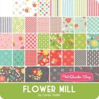 7c3643d577f165 Flower Mill Mini Charm Pack includes 42 squares and includes duplicates of  some prints