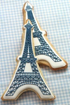 These eiffel tower cookies are CUTE