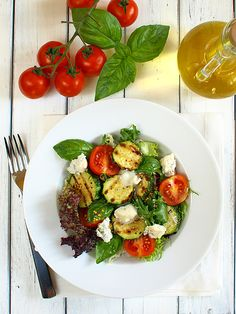 Courgette Salad with Gorgonzola Cheese and Honey Dressing