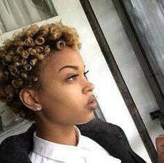 Curly two-tone! #twastatus