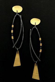 Narrow Oval Earrings