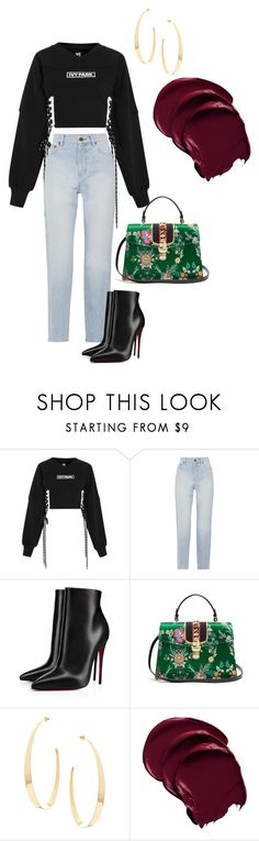 tawanda is a jelly belly by trishanamiller on Polyvore featuring Ivy Park, Yves Saint Laurent, Christian Louboutin, Gucci and Lana
