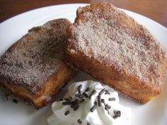 Rabanada: Brazilian style french toast, a traditional dessert at Christmas dinner.  No syrup makes this MY kind of french toast.
