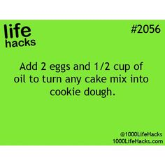 Easily turn any cake mix into cookie dough.